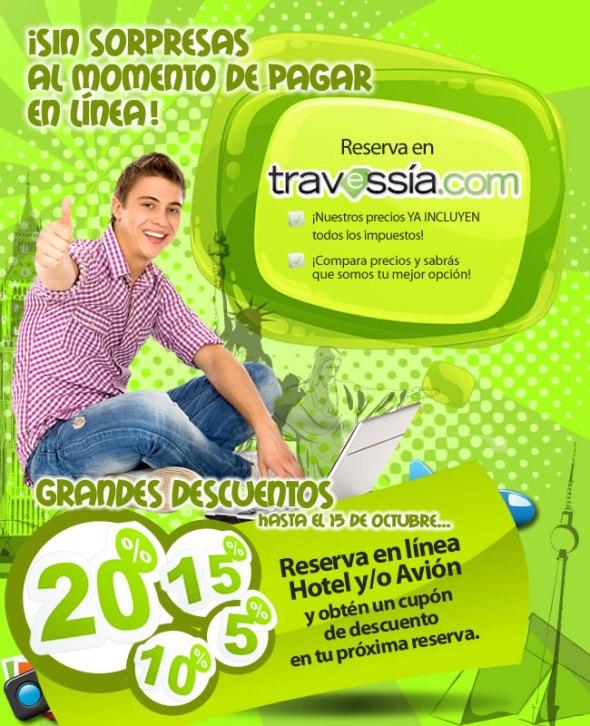 Descuentos por viajar en Travessia.com