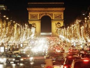 Champs Élysées en temporada navideña