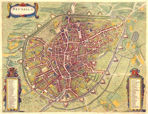 Mapa de Bruselas de 1657